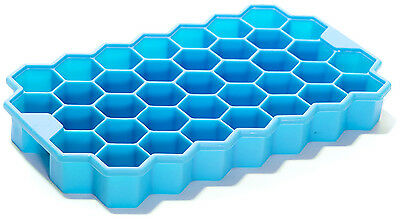1 X Silicone Mold Tool Jelly Ice Cubes Tray Pudding Mould Geometric Blue