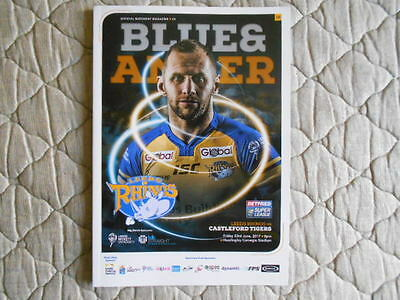 Leeds Rhinos V Castleford Super League Match Programme & Team Sheet 2017