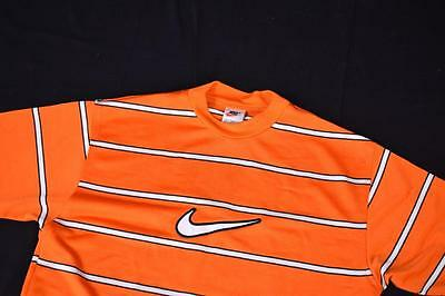 Small Orange BNWT Vintage Nike Striped T Shirt
