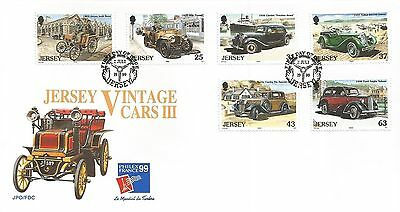 Jersey 1999 Vintage Cars Iii Fdc