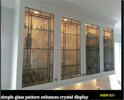 Kitchen Cabinet door inserts in Leaded & Stained glass