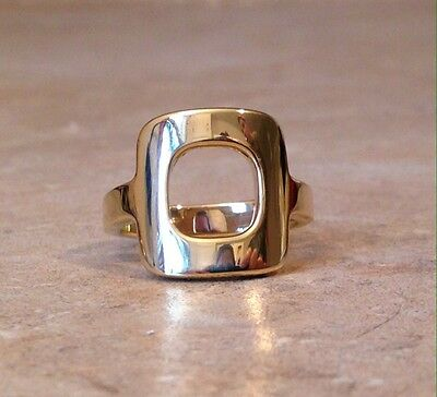 Vintage Cartier 18K Gold Vinh Dan Modernist Freeform Ring 60s 70s French Chunky