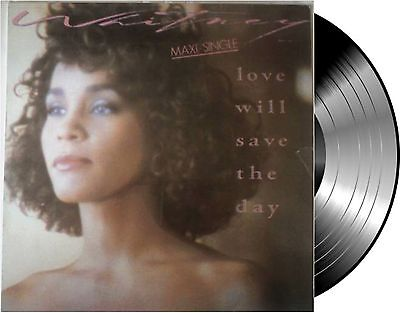"Lp Vinilo Whitney Houston Love Will Save The Day ""12"" 45 Rpm Maxi Single Spain"