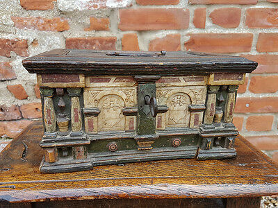 16thC 17thC Netherlandish Antique Malines Alabaster Table Casket C1590-1620