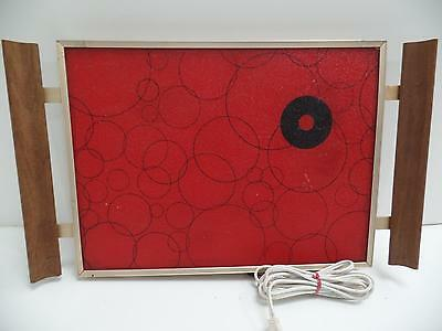 Cornwall Red Black Circles Thermo Glass Electric Warming Tray 1146 USA Modern