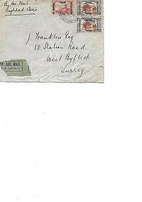 Stamps Airmail Cover Raf British Occupation Of Iraq 1923