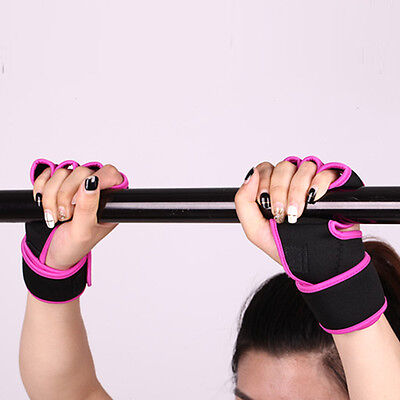 Sport Gloves Weight Lifting Gym Workout Training Wrist Wrap Strap Men Women R LO