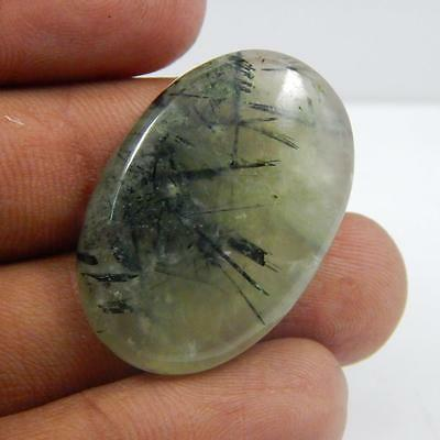 45.2 Cts  100% Natural Beautiful Prehnite Green Colour Cab Gemstone L#105-183