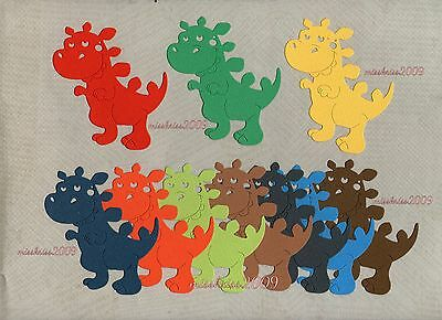 x10 Dinosaur Die Cuts ~ Mixed Colours ~ Monthly Special ~ Scrapbooking