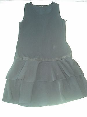 George girls navy blue school uniform pinafore dress 8-9 years