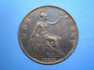 EDWARD VII 1902 BRONZE PENNY - VERY HIGH GRADE offers welcomed