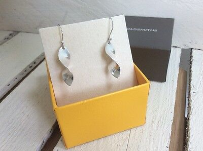 Authentic Goldsmiths hook silver earrings in original box