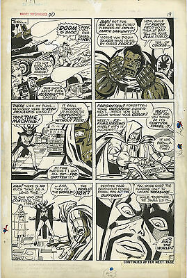 """Marvel Super-Heroes #20 Frank Giacoia Page 17 Comic Art 10"""" X 15"""""""