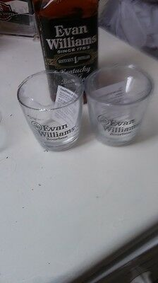 Set Of Two (2) Kentucky Bourbon Glasses -Evan Williams - Brand New In Seal