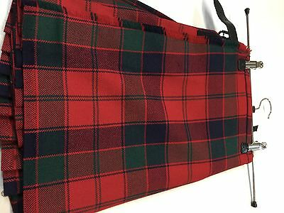 Kilt  Red Robertson Ex- Hire. Hand Made by Argyll Kilts