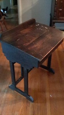 Antique Early 1900s Small Solid Wood school desk