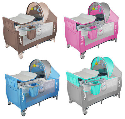 Baby Bed Lionelo Sven Plus Baby changing + Rocking mode + Mosquito + Music box