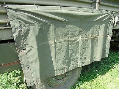 """Army Bedford MJ Canvas, 4 ton. Side Cover.military vehicle canvas 43"""" x 86"""""""