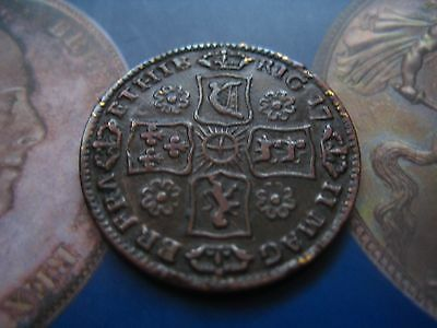 1711 Queen Anne Sixpence Struck In Copper, Evasive  D4