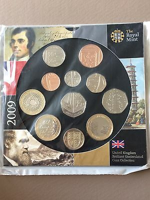 2009 uk brilliant coin collection- includes 'kew gardens' 50p