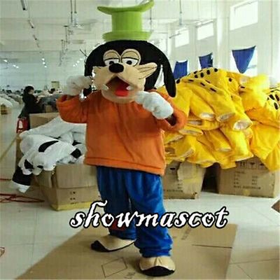 Goofy Dog Mascot Costume Halloween Cosplay Party Dress Adult Size