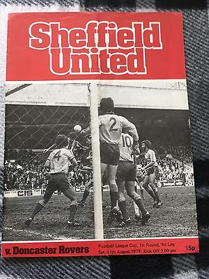 Sheffield United v Doncaster Rovers League Cup 1st Round 1st Leg 11/8/1979