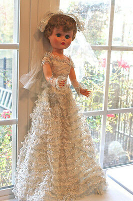 Betty the Beautiful Bride Doll, Vintage 1950s, 24''