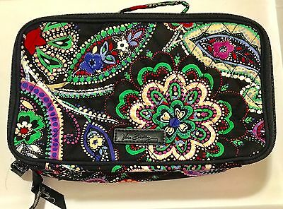 NEW VERA BRADLEY Blush Brush Makeup Case Travel Bag Pouch Kiev Paisley