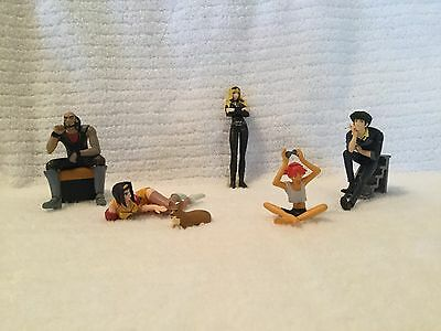 Cowboy Bebop Prize Figures ALL 6 Characters Complete Set w/o Box