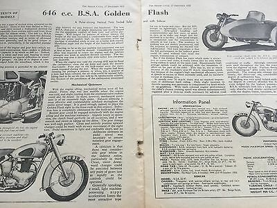 Bsa Golden Flash - Original 1951 3 Page B/w Motorcycle Article / Road Test
