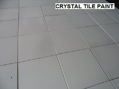 Ceramic Tile Paint 2 X  1 Litre White, Charcaol Pastel Colours