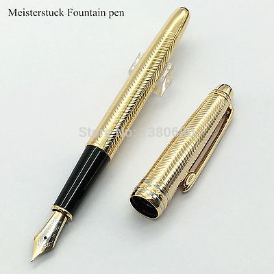 Excellent Fountain Pen Meisterstuck 163 MB Brand Strip Gold