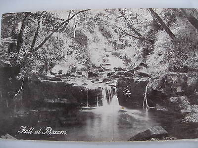 Postcard Fall at Brecon Wales Unused Early 1900's