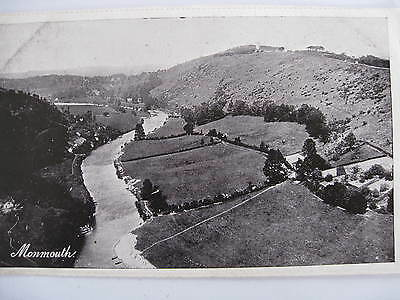 Postcard Monmouth River Valley Wales Unused Early 1900's