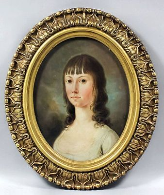 Early 19thC English School Antique Oil Portrait Painting of a Lady, Circa 1820