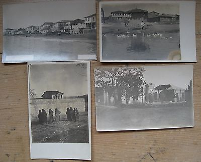 4 Postcards 1930's Middle East Unknown location RP