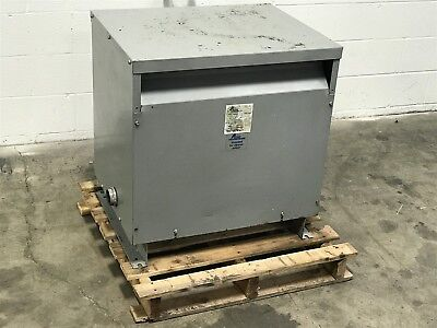 Used Acme 75Kva Transformer T-3-53344-3S 480 Primary 240-120 Secondary 3Ph (77)