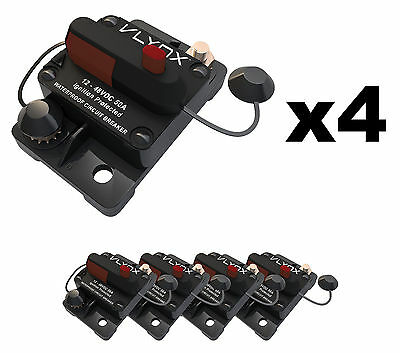 QTY4 VCB50 12V-48VDC 50 Amp Resettable PLOWS AND SPREADERS Circuit Breaker