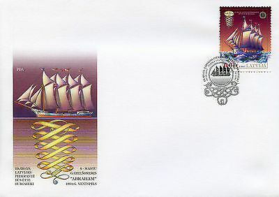 Latvia 2017 FDC 19th Century Historical Ships MGS Abraham 1v Cover Boats Stamps