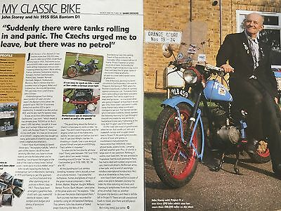 Bsa 1955 Bantam D1 - Original 2 Page Motorcycle Owners Report