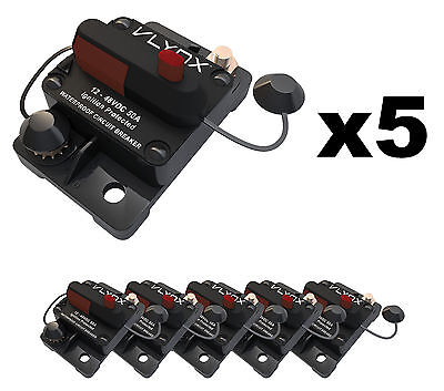 QTY5 VCB50 12V-48VDC 50 Amp Resettable PLOWS AND SPREADERS Circuit Breaker