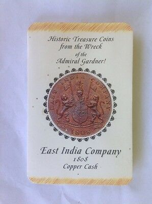 Historic Treasure Coin From The Wreck Of The Admiral Gardner 1808 Copper Cash