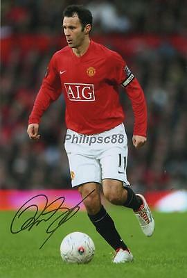 """Ryan Giggs 'Manchester United"""" Genuine signed 12x8"""" photograph"""