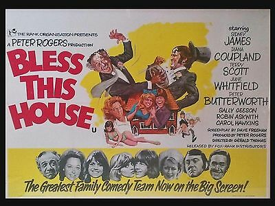 "Bless This House 1972 16"" x 12"" Reproduction Movie Poster Photograph"