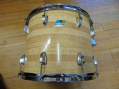 Vintage 70's Ludwig 15 x 12 Tom Drum 3 ply B/O Badge WW Shipping