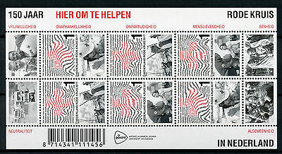 Netherlands 2017 MNH Red Cross 150 Years 6v M/S Medical Health Stamps