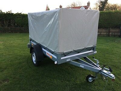 Brand New Car Trailer 7Ft X 4Ft Single Axle Nice & Light With Cover