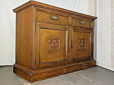 An Antique Victorian Solid Oak Sideboard Cabinet ~Delivery Available~