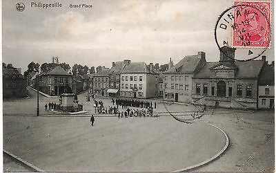 Cpa Philippeville : Grand´place - 1919
