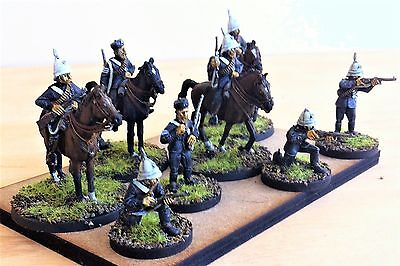 28mm Colonial British Zulu wars, Natal Mounted Police, Painted